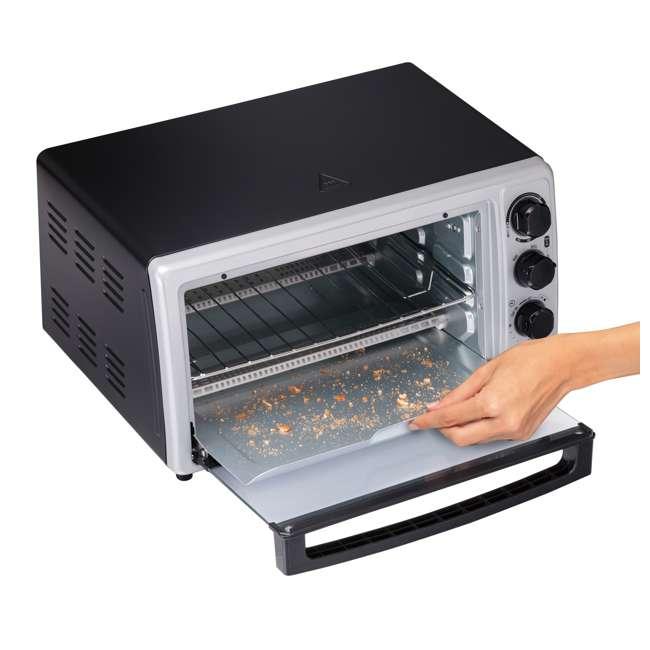 31124 Hamilton Beach Proctor Silex 6 Slice Capacity Countertop Toaster Oven, Silver 4