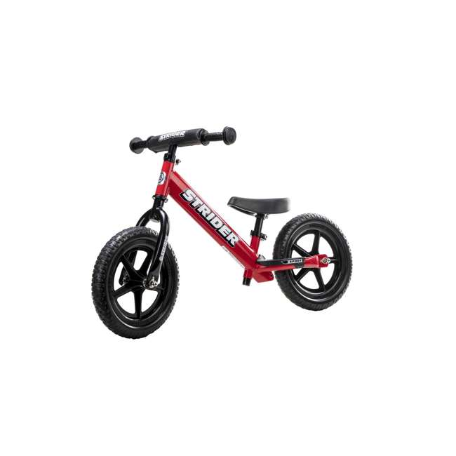 ST-S4RD Strider 12 inch Sport Toddler Training Adjustable Balance Bike, Red (2 Pack) 1