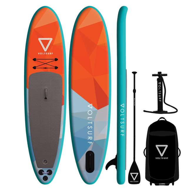 VS-iSUP-Turquoise-U-A VoltSurf 11 Ft Rover Inflatable SUP Stand Up Paddle Board Kit w/ Pump (Open Box)