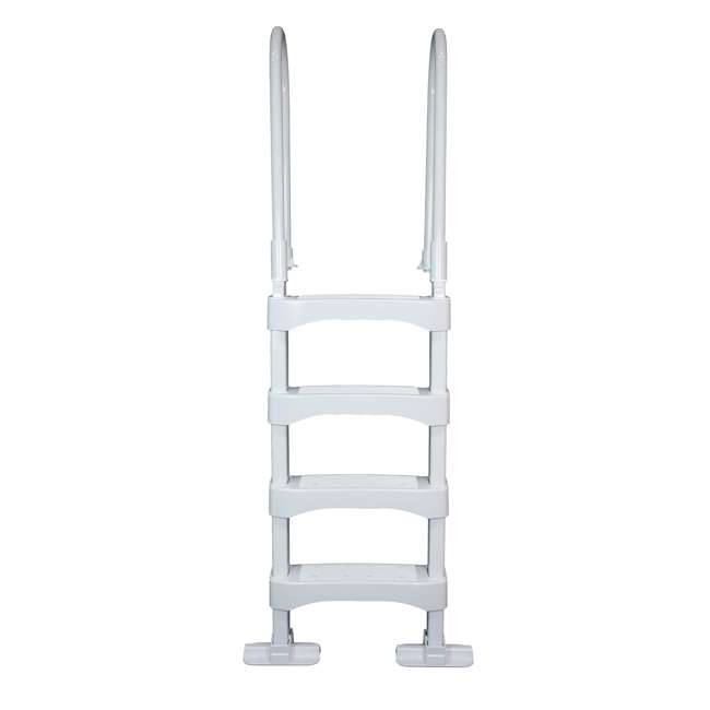 SLD2 + 87953 Vinyl Works 4 Step Ladder for 60 Inch Swimming Pool w/ Protective Ladder Mat 4