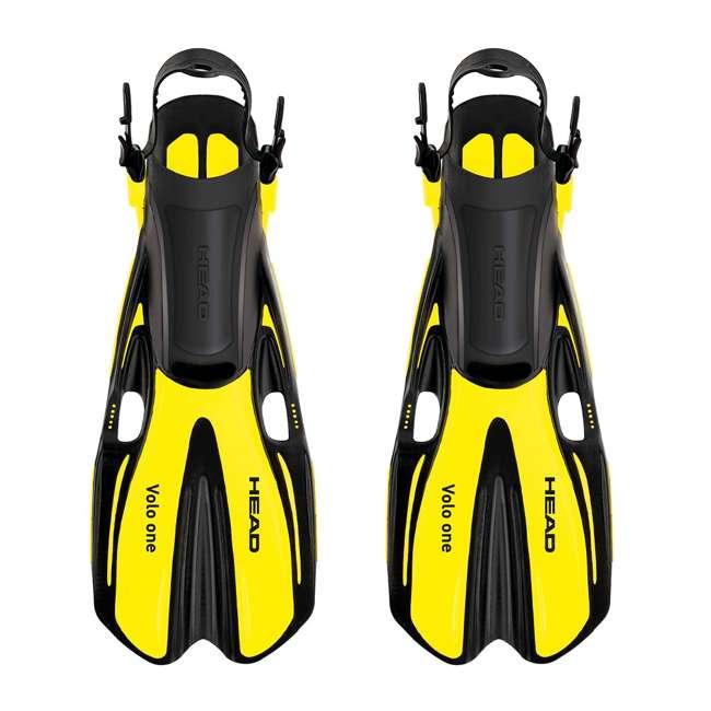 496325-BKBKS-M + 480203SFYLML Head Sea Vu Gray Snorkeling Mask with Yellow Fins, MedLg 2