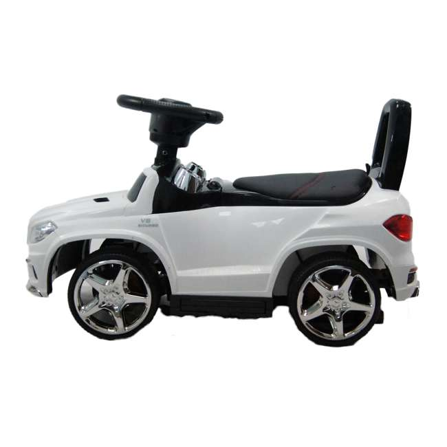 4 in 1 Mercedes Push Car White Best Ride On Cars Baby 4 in 1 Mercedes Push Vehicle, Stroller, & Rocker, White 3