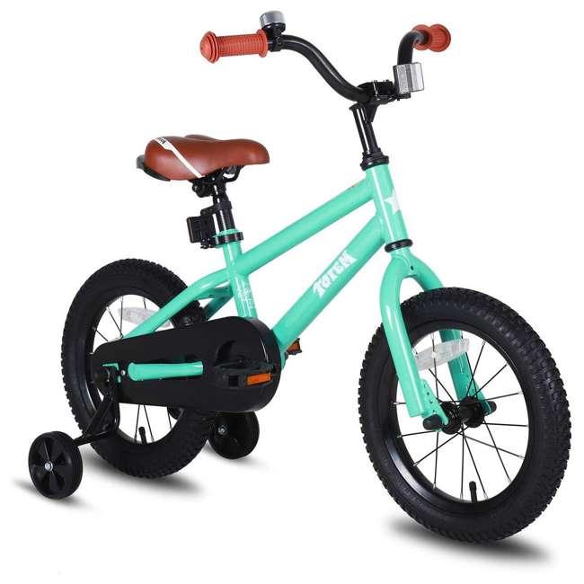 BIKE016gr-16 JOYSTAR Totem Series 16-Inch Kids Bike with Training Wheels & Kickstand, Green