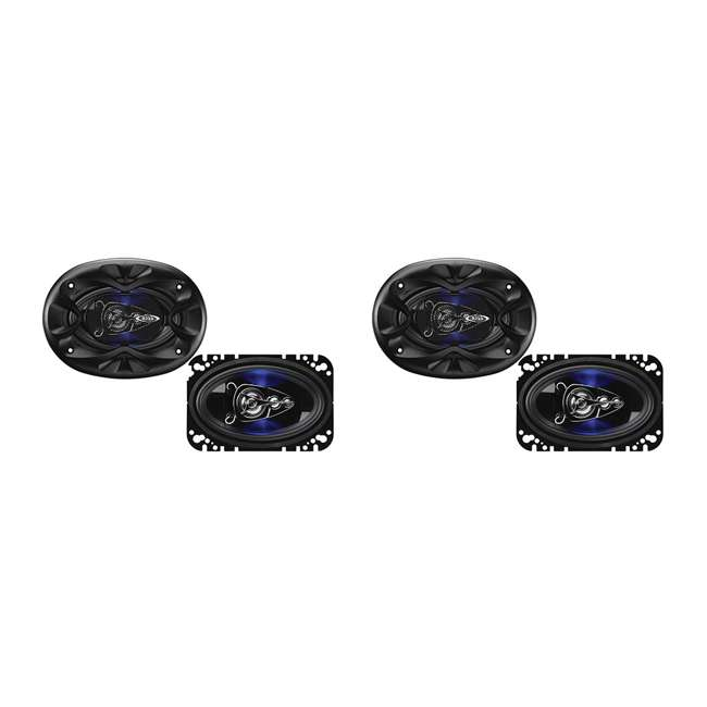 BE464 Boss Audio Rage 4 x 6-Inch 4-Way 250W Full Range Speakers (4 Pack)