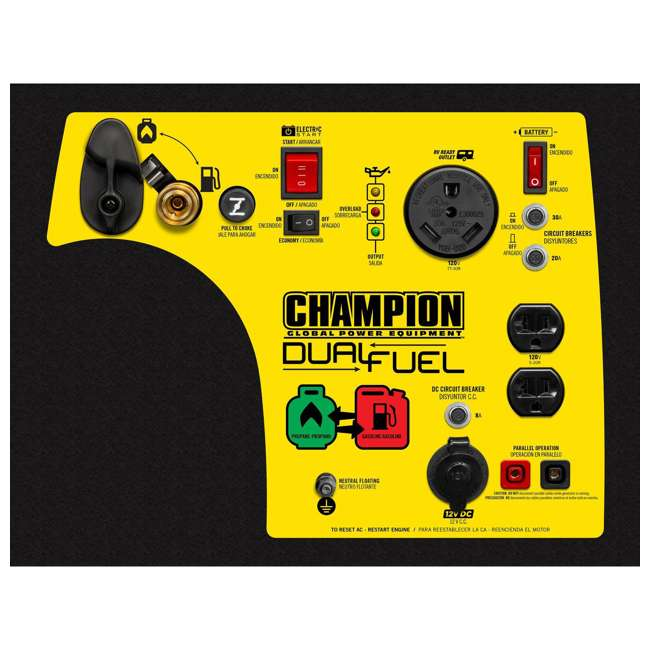 100263 Champion 3400-Watt Portable Dual Fuel Inverter Generator 1