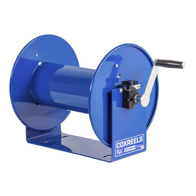 112-3-150 Coxreels 100 Series Compact Hand Crank Water and Air Hose Reel, Blue 4