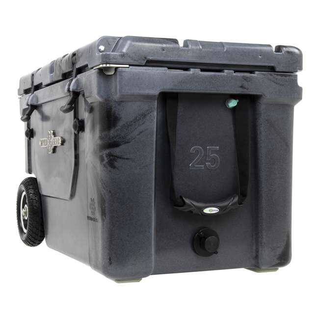 HC50-SB WYLD HC50-SB 50 Qt. Dual Compartment Insulated Cooler w/ Wheels, Black/Silver 3
