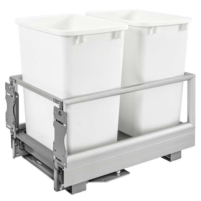 5149-18DM-211 Rev-A-Shelf 5149-18DM-211 Double 35 Qt Pullout Cabinet Trash Can w/ Rev-A-Motion