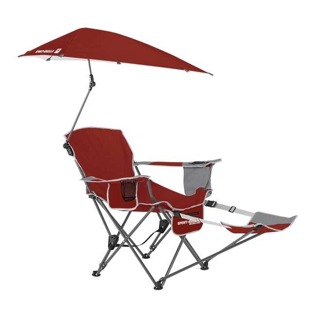 BRE03-620-01 Sport-Brella Umbrella Recliner Folding Chair, Red