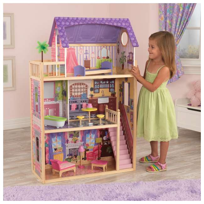 KDK-65092-U-A KidKraft Kids' Kayla Wooden Dollhouse and Furniture Pieces (Open Box) (2 Pack) 2