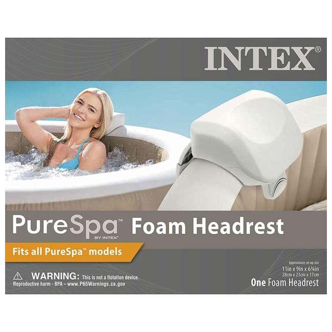 4 x 28505E Intex PureSpa Cushioned Foam Headrest Pillow Hot Tub Spa Accessory, White 4 Pack 3
