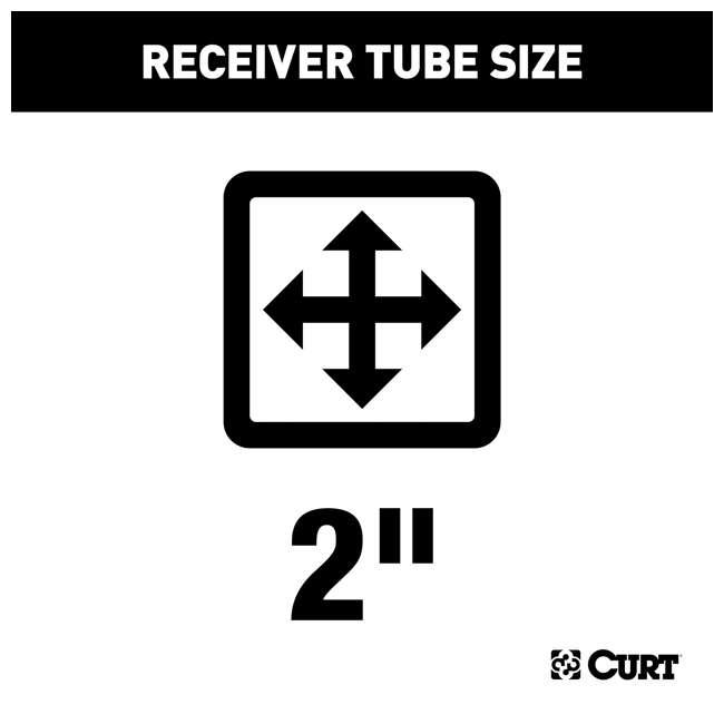 13393 Curt 13393 2 Inch Receiver Trailer Hitch for GMC Sierra and Chevrolet Silverado 1