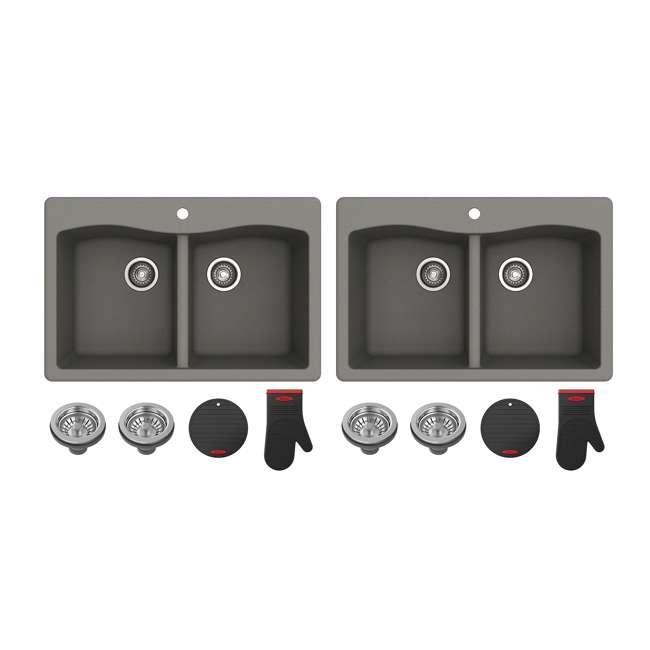KGD-52GREY Kraus Forteza Dual-Mount Granite Kitchen Sink (2 Pack)