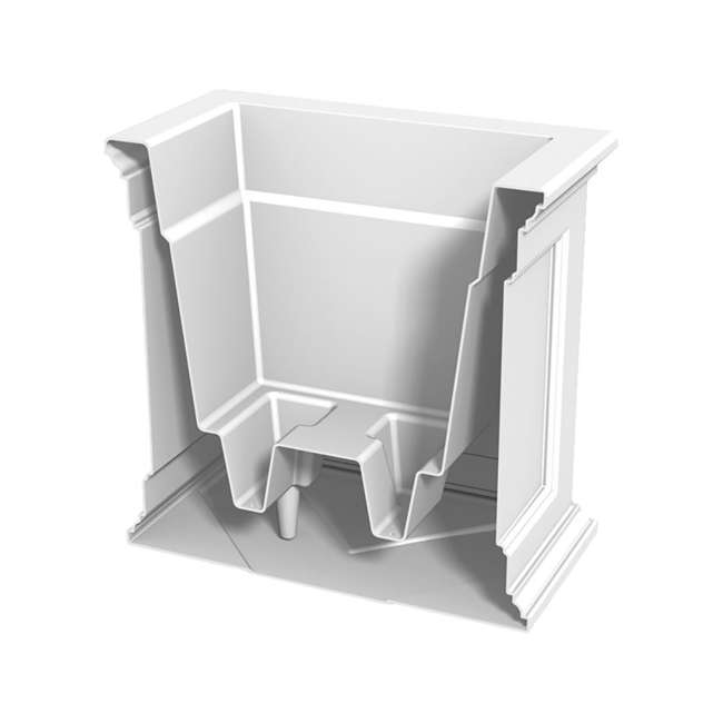 MO-5825-W Mayne Fairfield Large 20 In Square Plastic Outdoor Flower Pot Planter Box, White 4