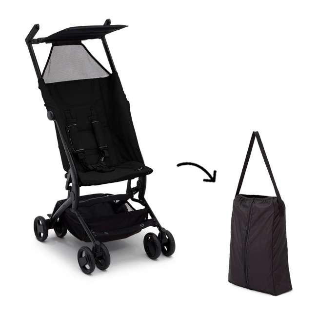 11362-001 Delta Children The Clutch Compact Foldable Light Travel Baby Stroller, Black 3
