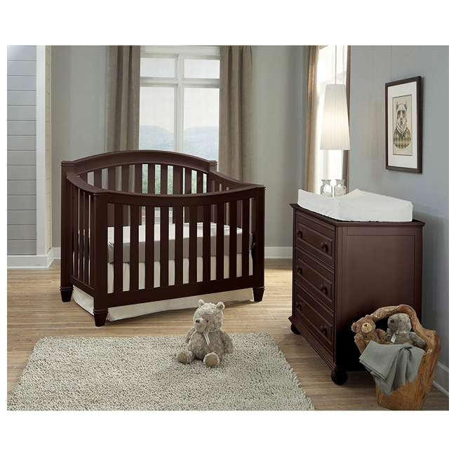 04565-309 + EM642-PHN1 Thomasville Kids Highlands Crib, Espresso & Sealy Posturepedic Mattress 3