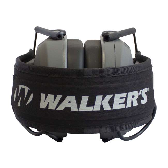 GWP-RSEM-GY + GWP-REMSC Walker's Razor Electronic Shooting Ear Muffs, Smoke Gray & Storage Case, Black 3