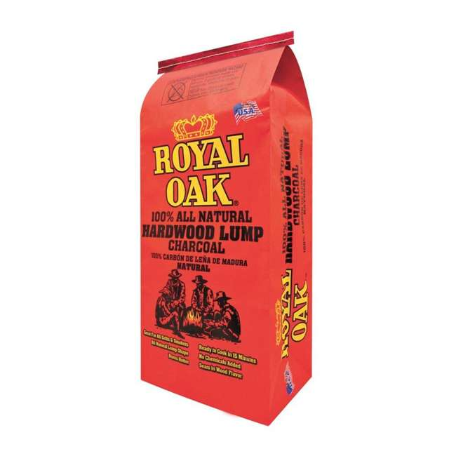 0 00 16800 22823 0-RO Royal Oak BBQ All Natural Premium 8 Pound Bag Lump Charcoal Starter (Open Box)