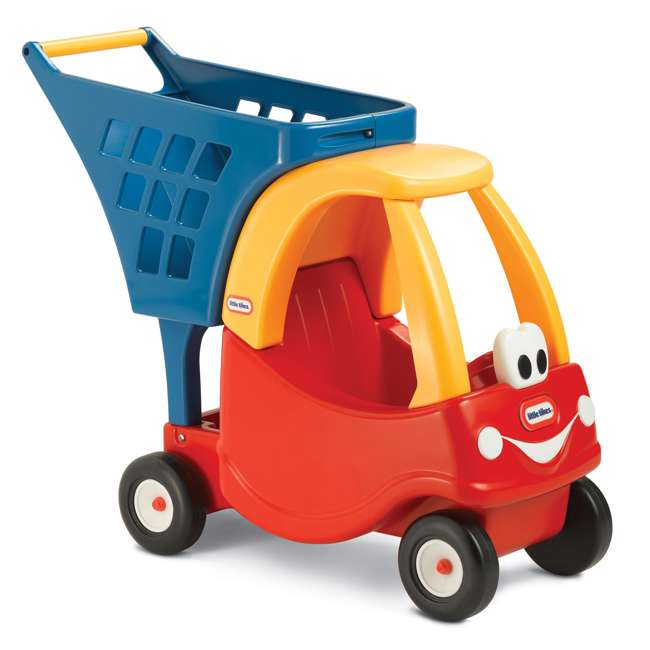 618338M Little Tikes Cozy Coupe Kids Grocery Shopping Cart, Red (2 Pack) 1