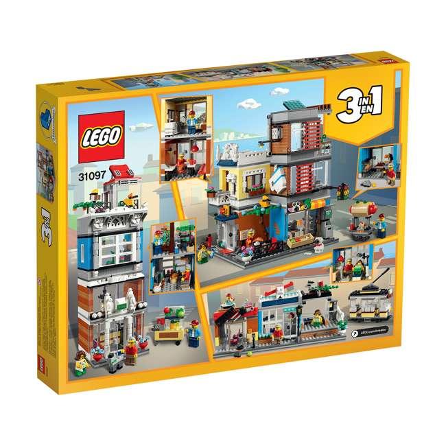 6250798 LEGO 31097 3-in-1 Townhouse Pet Shop & Cafe Block Building Kit w/3 Minifigures 2