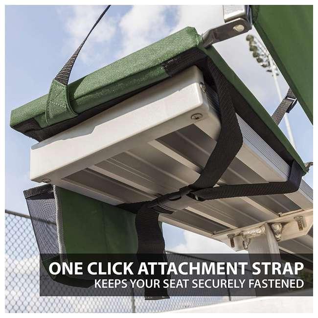 1-1-58811-DS + SL92-T-BK Eastpoint Sports Stadium Seat & Chantal 15 Oz Travel Mug, Green 4