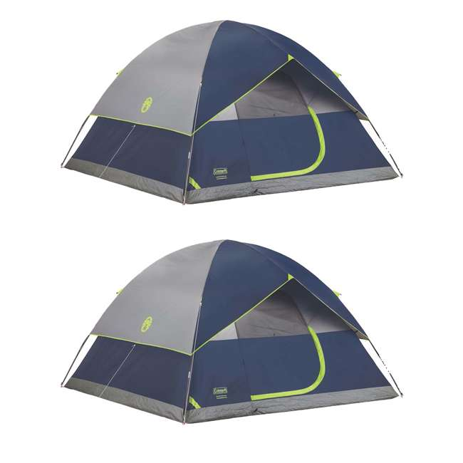 2000024583 Coleman Sundome 6 Person Tent w/ Rainfly (2 Pack)
