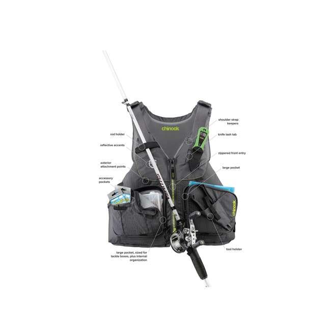 NRS_99999_03_975 NRS Chinook Fishing Life Vest, Small/Medium, Orange 4