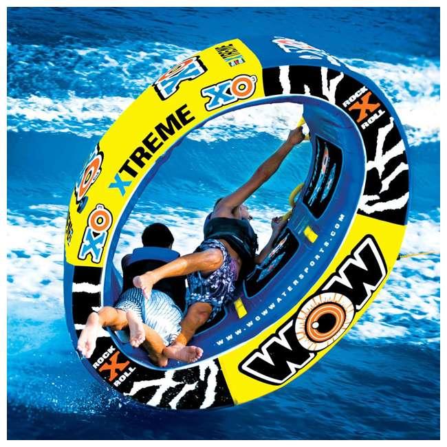 12-1030 Wow Sports 3-Person XO Extreme Towable Rider Tube, Blue 4