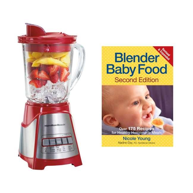 58147 + BABYFOODBLEND Hamilton Beach Multi Function Wave Action Blender w/ Blender Baby Food Cookbook