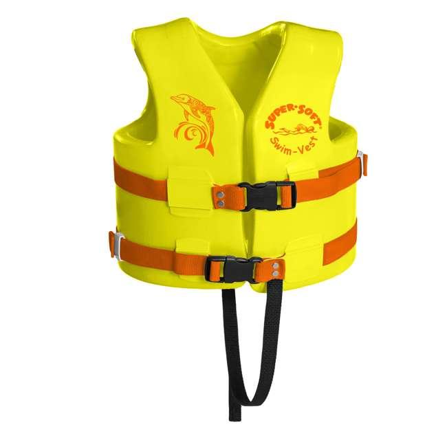1021512-U-A TRC Recreation Super Soft USCG Childs Foam Swim Vest, Medium, Yellow (Open Box)