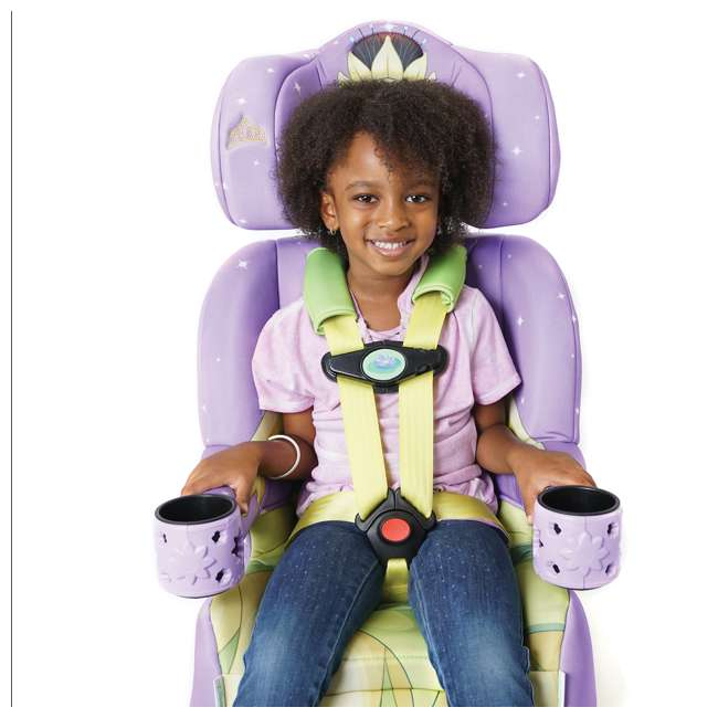 KE-3001TIA KidsEmbrace 2 in 1 Convertible Forward Facing Car Seat, Disney Princess Tiana 3