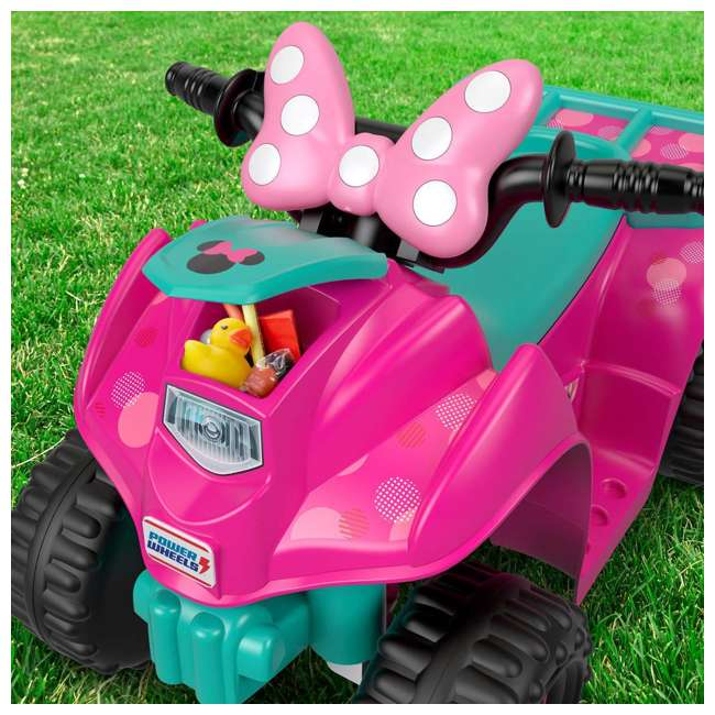 FLK44-U-A Fisher Price Power Wheels Toddler ATV Ride On Minnie Mouse Lil Quad (Open Box) 6