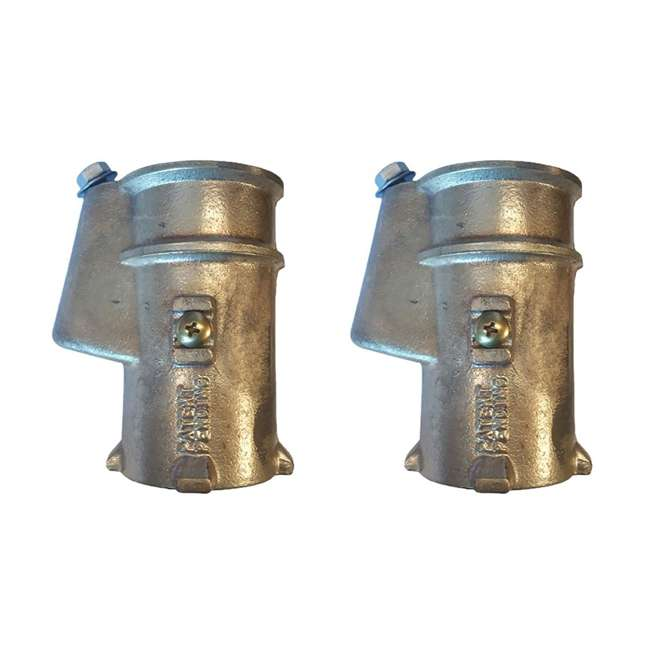 BAS-1.90 Inter-Fab BAS-1.90 Bronze Anchor Socket for 1.9-Inch Handrail (2 Pack)