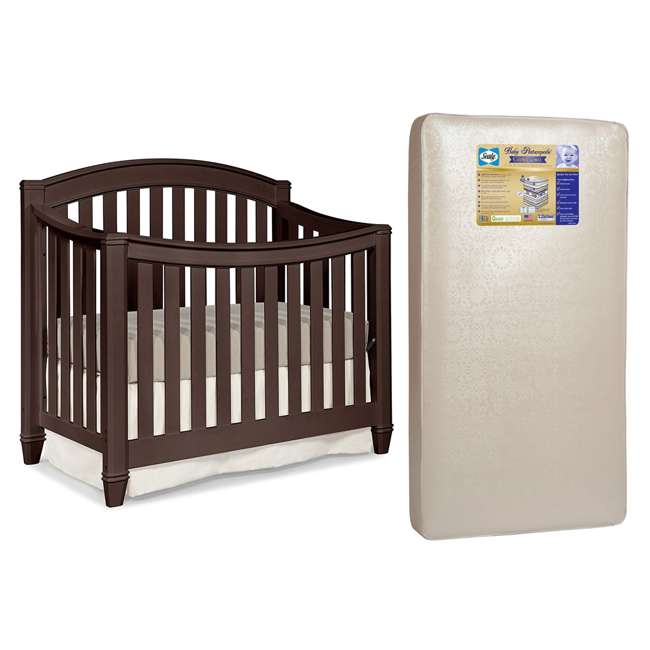 04565-309 + EM642-PHN1 Thomasville Kids Highlands Crib, Espresso & Sealy Posturepedic Mattress