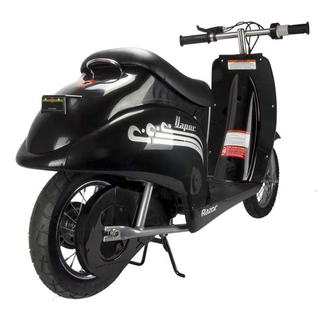 15130601 + 97778 + 96785 Razor Pocket Mod Scooter (Black) with Helmet, Elbow and Knee Pads 4