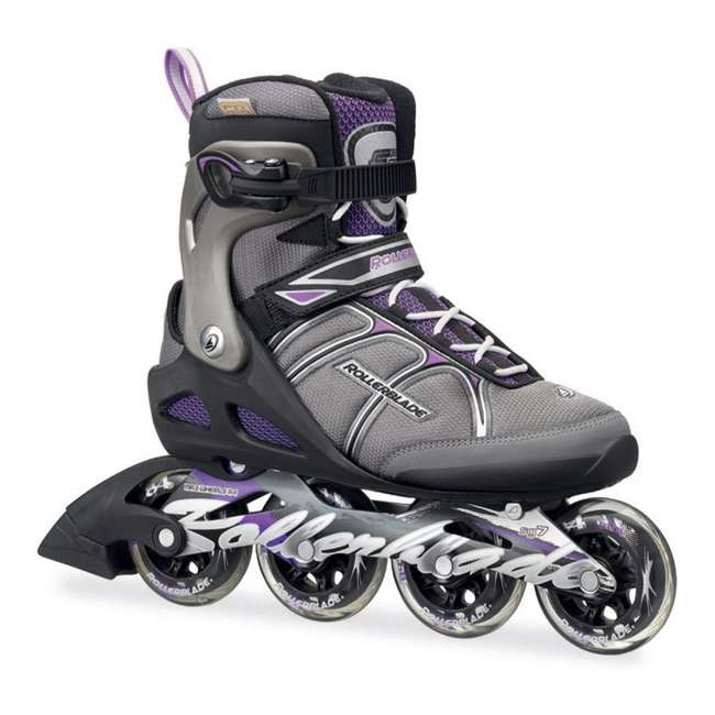 07624600N41-9 Rollerblade USA Macroblade 84 Women's Adult Fitness Inline Skates Size 9, Purple