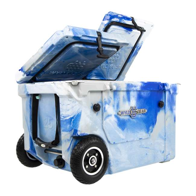 HC50-17M WYLD HC50-17M 50 Qt. Dual Compartment Insulated Cooler w/ Wheels, Marine Blue
