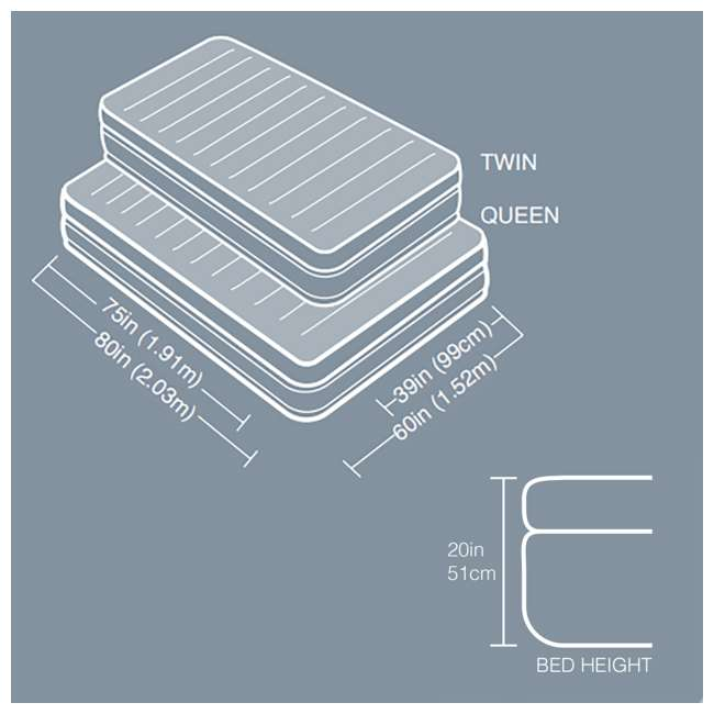 64445E Intex Prime Comfort Elevated Queen Airbed with Built-In Pump 9