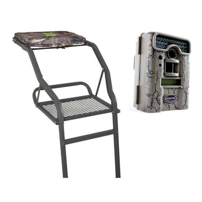 82067-PERFORMER1 + D55-IRXT Summit Solo Performer Crush Series 1 Man 15' Treestand + Moultrie D55-IRXT Game Camera