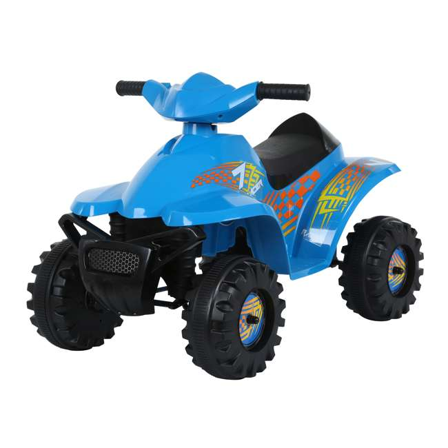 ACQUAD-B Rollplay 6 Volt Battery Powered Charging Toddler Kids Mini Quad Ride-on, Blue