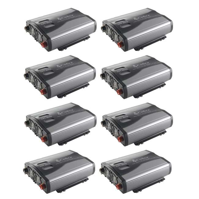 8 x CPI1575 Cobra 1500W 12-Volt DC to 120-Volt AC Car Power Inverter, 3 Outlets and USB (8 Pack)