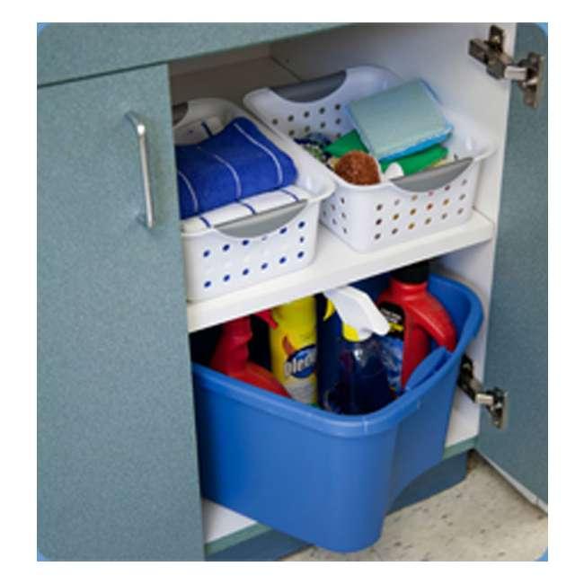 72 x 16228012-U-A New Sterilite 16228012 Small Ultra Plastic Storage Bin Organizer Basket -White (72 Pack) 2