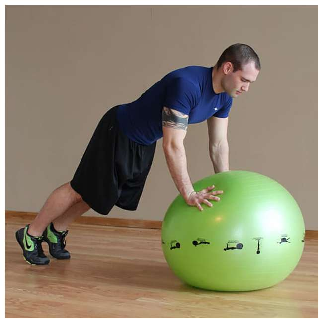 400-150-010 Prism Fitness 55cm Smart Self-Guided Stability Exercise Medicine Ball, Yellow 4