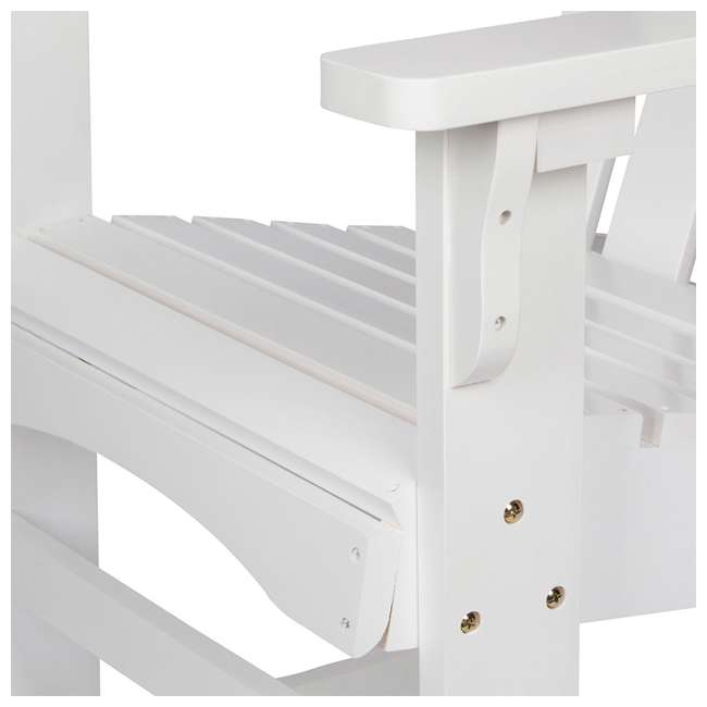 4698WT Shine Company Weather Resistant Cedar Wood Marina Porch Rocking Chair, White 4