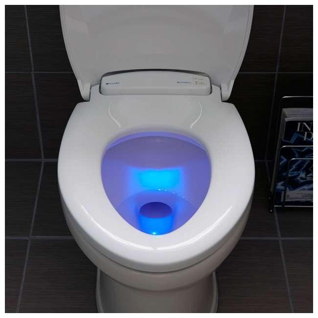L60-EB Brondell LumaWarm Heated Nightlight Toilet Seat, Biscuit 2