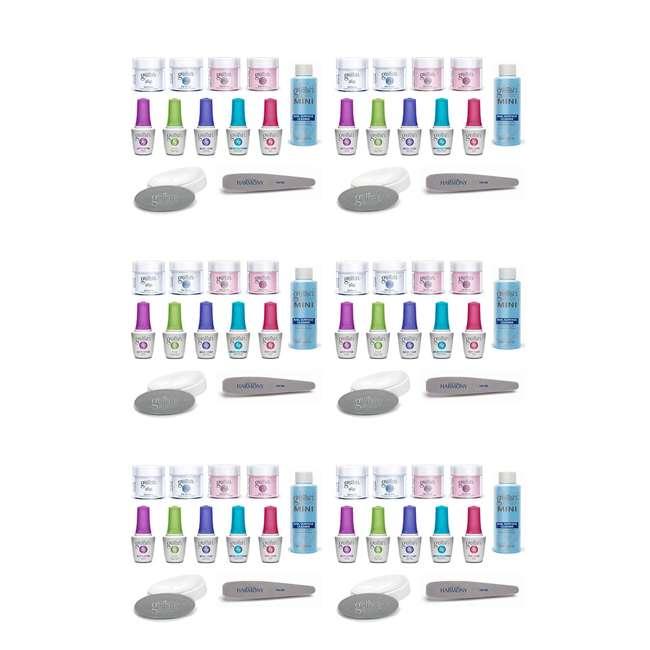 6 x 1620004-DIPFRENCH Gelish French Tip Acrylic Power Dip Nail Kit (6 Pack)
