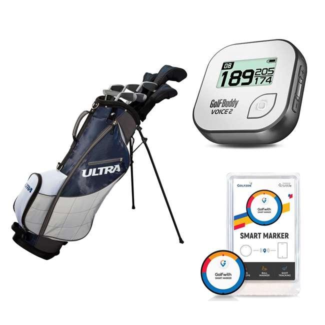 WGGC4360L + GB7-VOICE2-GREY + PGSMGps Wilson Men's Golf Club Set + Golf Buddy GPS Range Finder + Golfwith Smart Marker