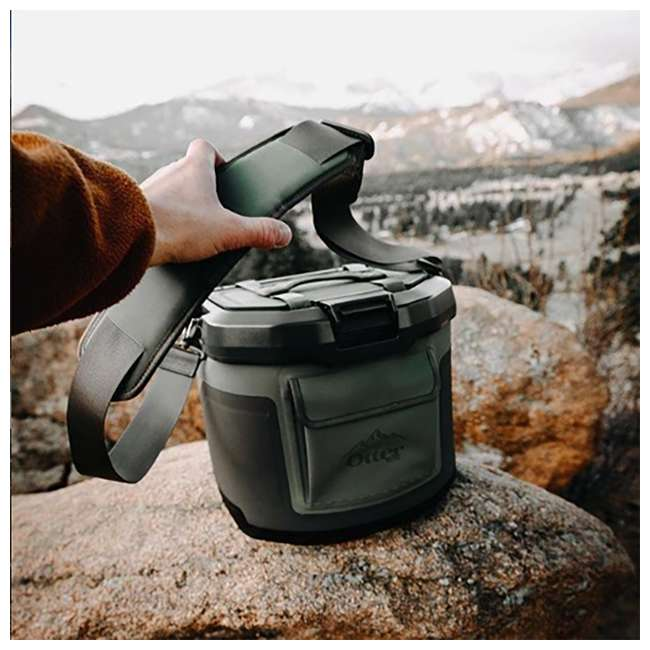77-60673 OtterBox Trooper IP66 Leakproof Seal Portable 12 Quart Insulated Cooler, Green 2