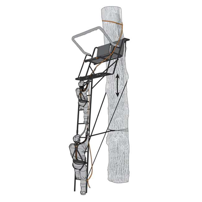 "MUD-MSA500-3 Muddy Safe-Line 30"" Durable Nylon Outdoor Hunting & Tree Stand System, 3 Pack 4"