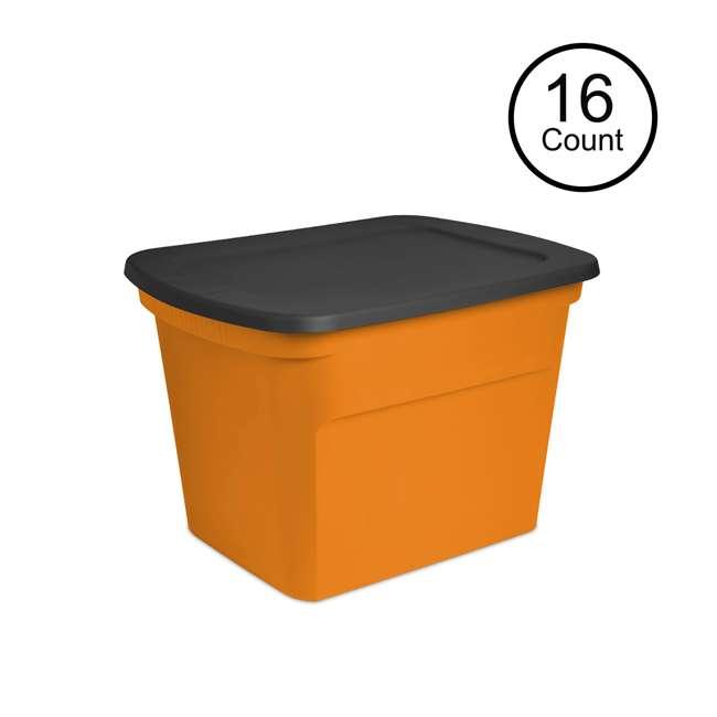 16 x 17313808 Sterilite 18-Gallon Storage Bin with Lid, 16-Pack